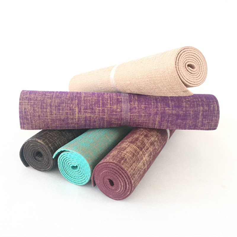100% high quality classic fit most popular US $9.24 35% OFF|Non slip Jute Pvc Yoga Mat Nature Yoga Mat Thickness 5mm  Linen Material Yoga Mat Exercise Pad-in Yoga Mats from Sports & ...
