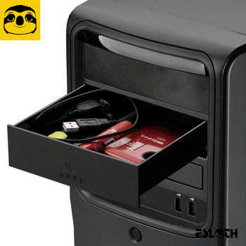 New Black 523 Floppy Drives 5.25-Inch Metal Shell Computer Chassis CD-ROM Drive Drawer Storage Box Cabinet Cigarette Storage Box - DISCOUNT ITEM  0% OFF All Category