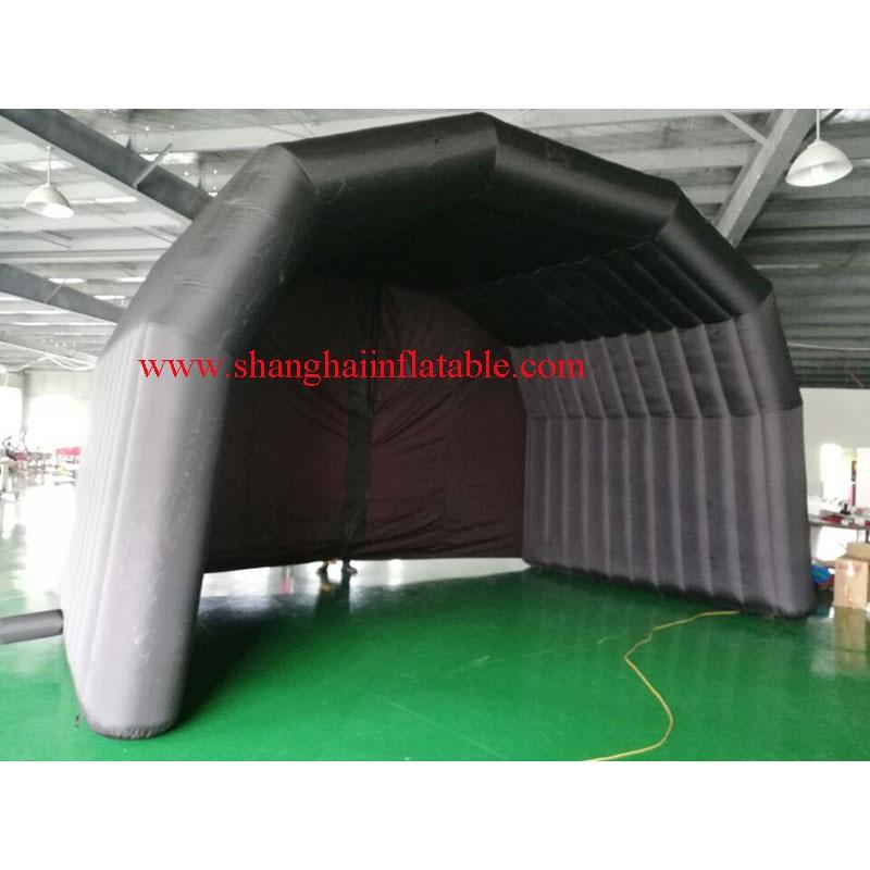 Aangepaste opblaasbare evenement tent/zwart oxford opblaasbare tent te koop