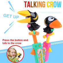 1 Pcs Electronic Pets Smart Talking Bird Crow Kid Toy Recording Toucan Voice Child Doll Imitation Show Interesting Gift For Fun new arrival electronic interactive toys phoebe firbi pets owl elves plush recording talking smart toy gifts furbiness boom