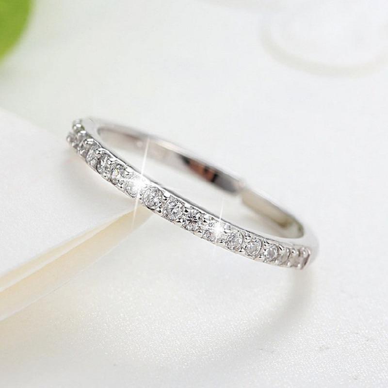 Новое поступление серебряных колец с кристаллами для женщин Регулируемый размер открытые кольца на палец модные ювелирные изделия