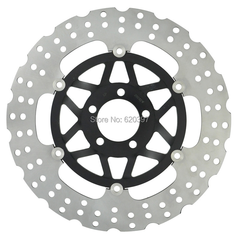 Motorcycle Front Brake Disc Rotor For Kawasaki VLR1600 VZ1600 VZR1800 ZX-7R ZX-9R ZX-12R ZXR750 ZZR1100 ZZR1200 VN1500 VN1600 keoghs motorcycle brake disc brake rotor floating 260mm 82mm diameter cnc for yamaha scooter bws cygnus front disc replace