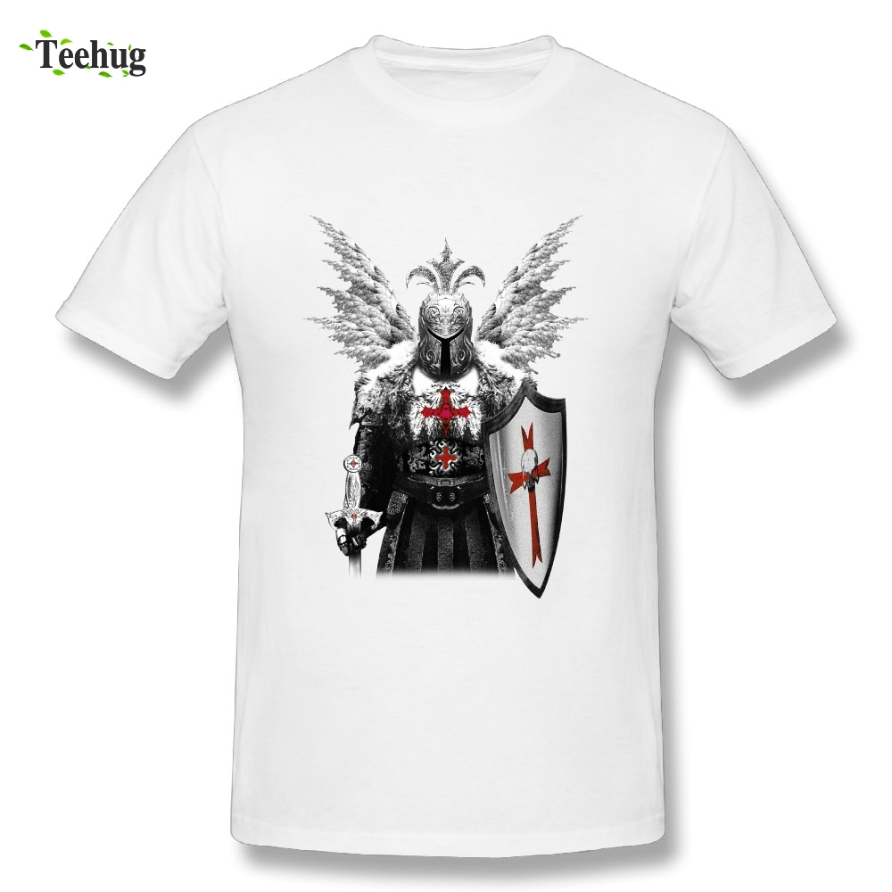 New Arrival Man Braveheart Knights Templar T Shirt Retro Graphic Print T-Shirt
