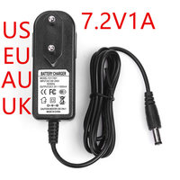 1 шт. 7,2 в 1A адаптер питания зарядное устройство 7.2V1000mA адаптер AC100-240V головка постоянного тока 5,5*2,1 мм AU/UK/EU/US штекер