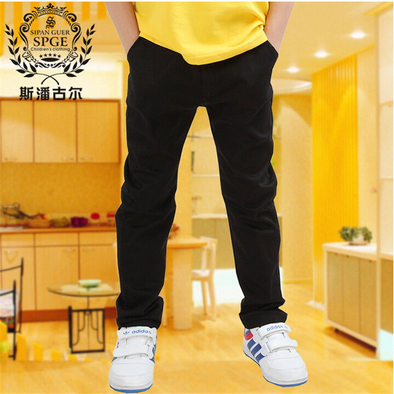 trousers child casual pants autumn new arrival spring and autumn single white black trousers 2016 Boys