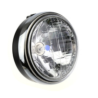 Hot Sale 8 Inch Classic Motorcycle Headlight Retro Round Universal Motorbike Headlamp 12V 55W H4 Halogen