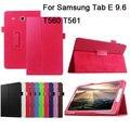 Лучшие Качества Личи Кожа PU Case с Подставкой Для Samsung Galaxy Tab E 9.6 T560 T561 + Экран Фильма и