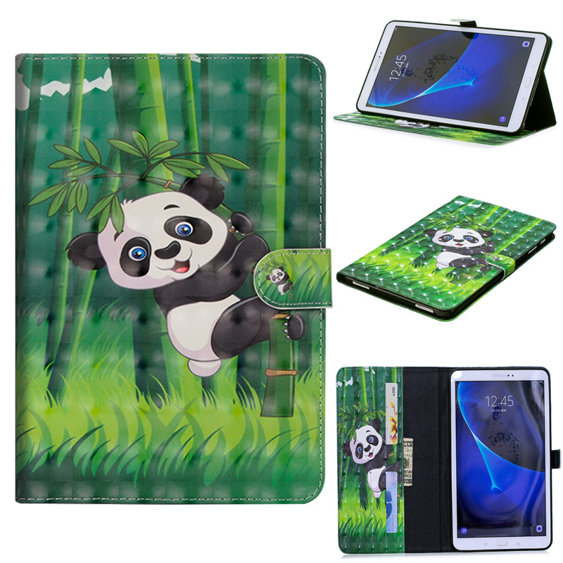 Case For Samsung Galaxy Tab A6 A 6 2016 10.1 T585 T580 SM-T585 3D Cartoon PU Leather Cover Back Protective Case Tablet Cover