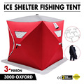 Tente de pêche Portable à 3 places pour abri sur glace avec ancrages de glace rouge|Pièces de robot culinaire| |  -