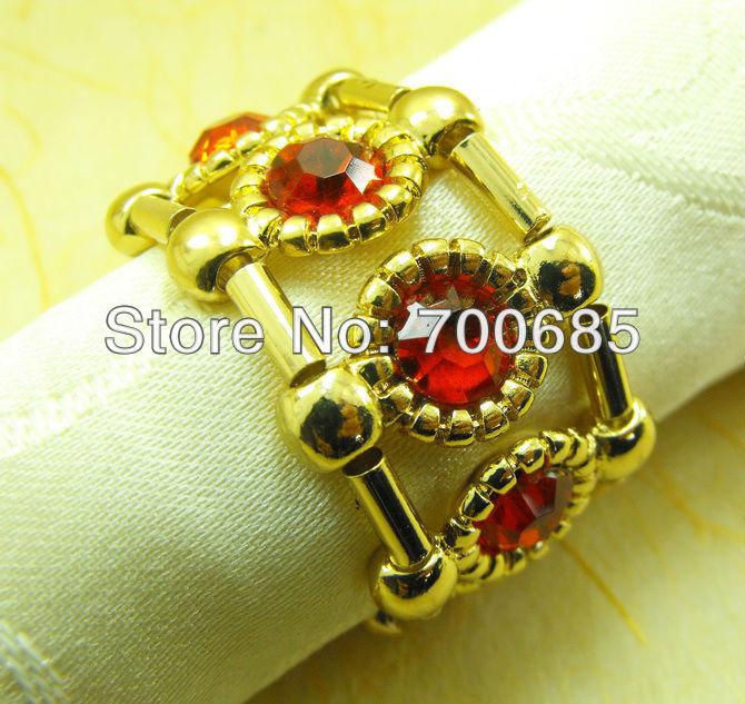 cheap napkin ring gold metal napkin