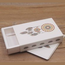 Wedding&birthday Gift paper box with take me to you heart  11.5*8*2cm necklace&earring Packaging & Display Kraft and white
