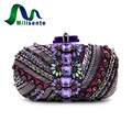 New Lady Luxury Beaded Day Clutches Evening Bags Crystal Handbags Party Wedding Purse Shoulder Crossbody Gold With Chain