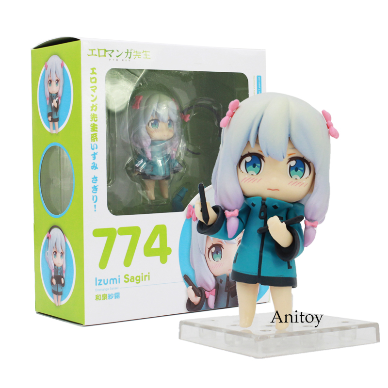 Eromanga Sensei lzumi Sagiri 774 Q Version Nendoroid Doll PVC Action Figure Collective Model Toy 8.5cm цены онлайн