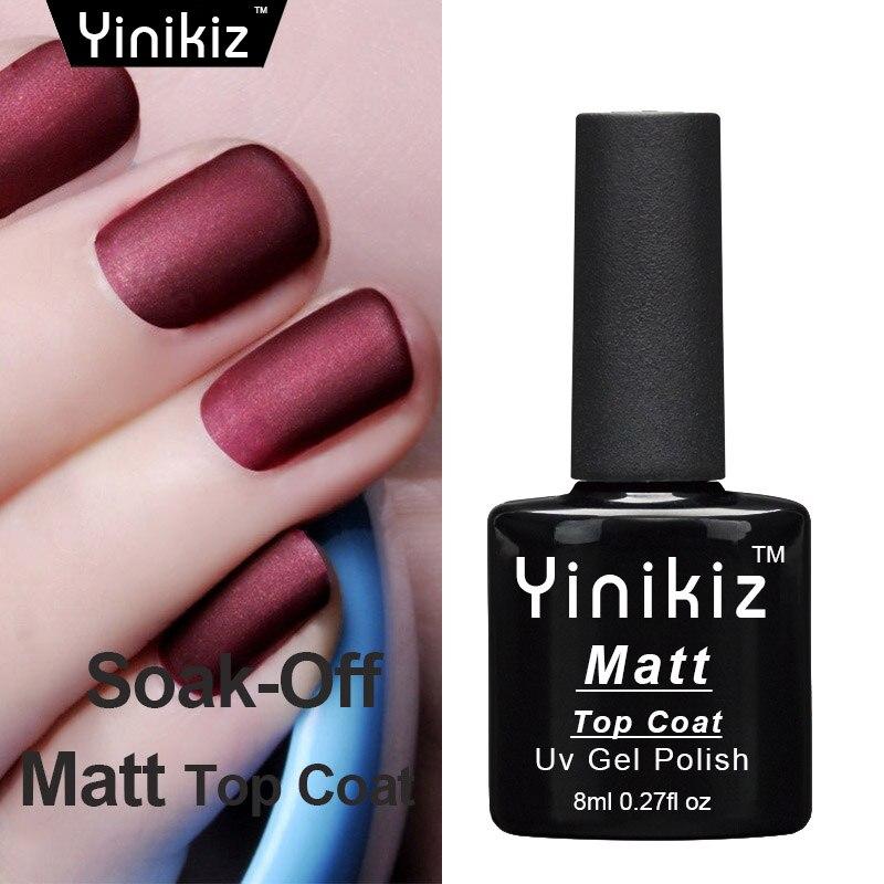 Matte Black Gel Nail Polish: Yinikiz Painting Nail Art Set Black Matt Top Coat Primer