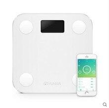 Heißer Verkauf Weiß Mini Smart YUNMAI Waagen Haushalt Premium Unterstützung Bluetooth APP Fettanteil Digitale Körperfettwaage