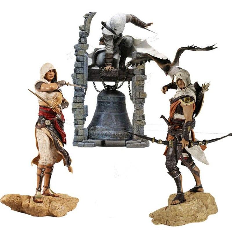 Creed Origini Bayek Aya Altair La Légendaire Assassin Figure PVC Brinquedos Action Figure Collection Modèle Jouets Cadeaux 28 cm