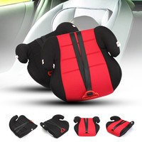 New Children Car Booster Seat Safety Chair Heightening Pad With Safety Belt For Baby Kids Red