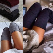Perakende 2019 Diz Çorap Stocking Yeni Moda 7 Renk Katı Seksi Kalın ve Sıcak Çorap Kadınlar Için Medias emme Soğutma Sıvısı sok em