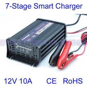 Image 1 - FOXSUR wholesale original 12V 10A 7 stage smart Lead Acid Battery Charger Car battery charger  Input voltage: 180 260V AC, 50Hz