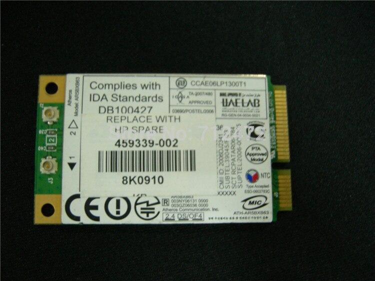 Ssea original al por mayor inalámbrico para Atheros ar5007eg ar5bxb63 54 Mbps 802.11b/G tarjeta mini pci-e para HP