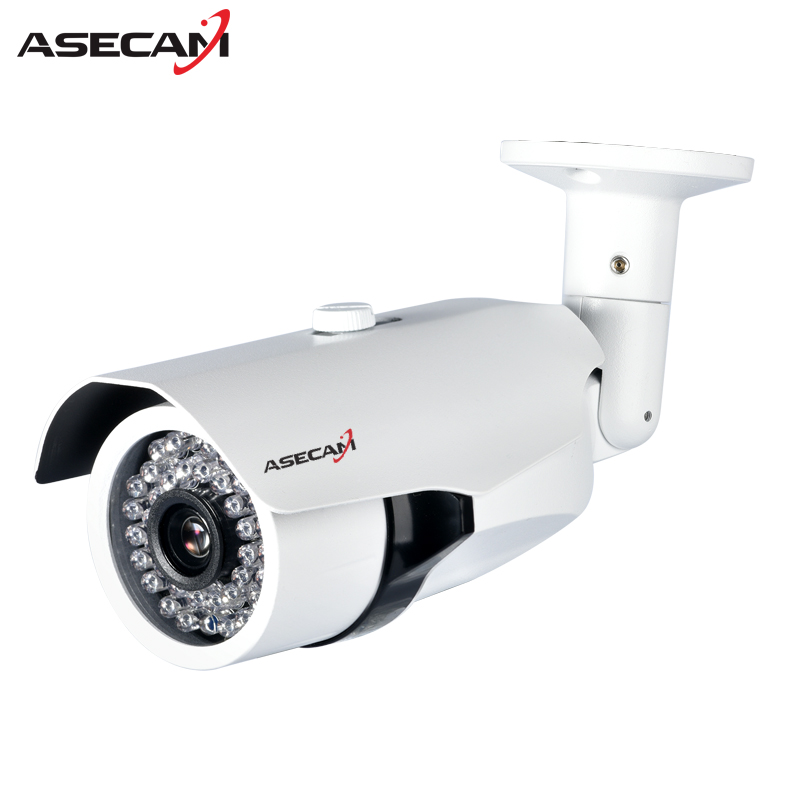 New Arrival HD 1080P IP Camera H.265 POE CCTV HI3516C Bullet White Metal Waterproof Network Onvif P2P Security Surveillance wistino metal housing cover case new ip66 cctv camera outdoor use casing waterproof bullet for ip camera hot sale white color