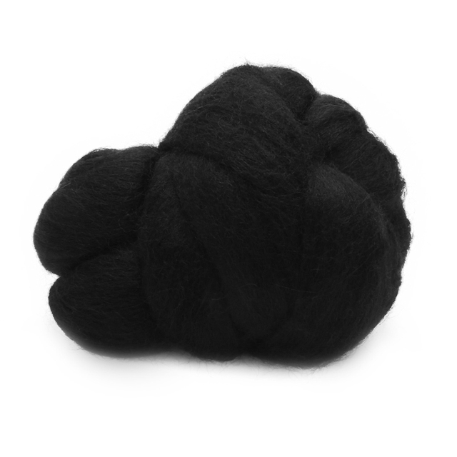 US $2 91 36% OFF|50g Black Merino Wool Fiber Fluffy Soft Dyed Wool Tops  Roving Felting Wool Fibre For Needle Felting DIY Sewing Projects-in Fiber  from