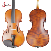 TONGLING Brand Art Stripes Maple Acoustic Violin Violino Fiddle Stringed Instrument with Full Accessories for Beginner Students