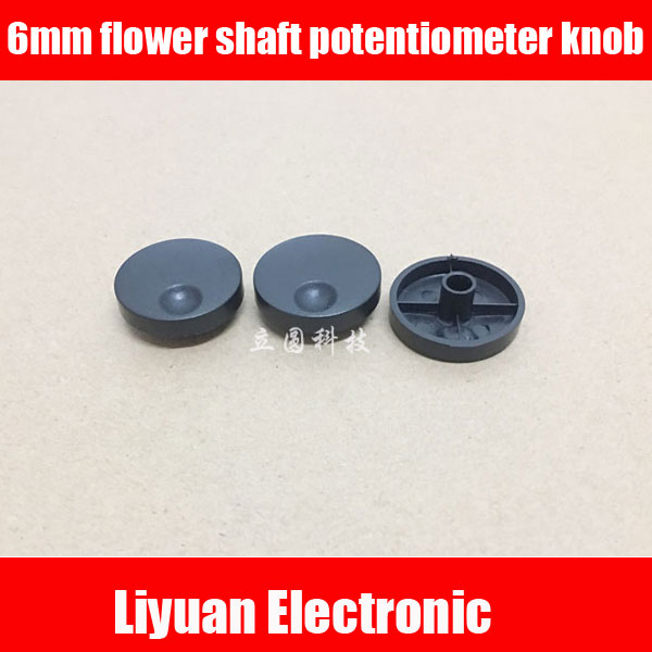 Accessories & Parts Electrical Sockets & Plugs Adaptors Potentiometer Encoder Band Switch Plastic Knob Cap 17x19mm Flower Shaft Holes 6mm Excellent Quality