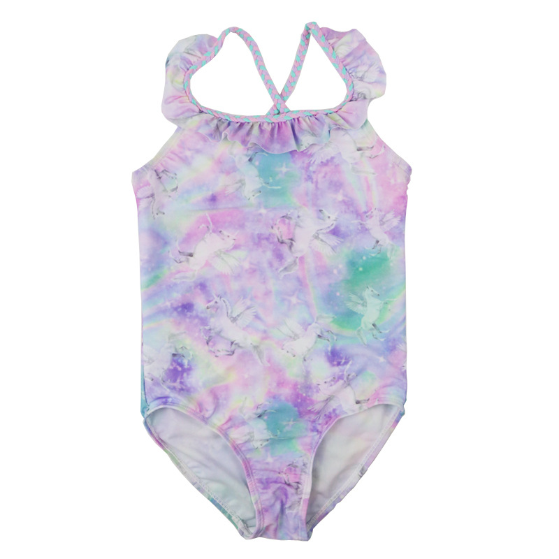 Toddler Kids Baby Girls Rainbow Swimwear Swimsuit Bathing Suit Beachwear Summer