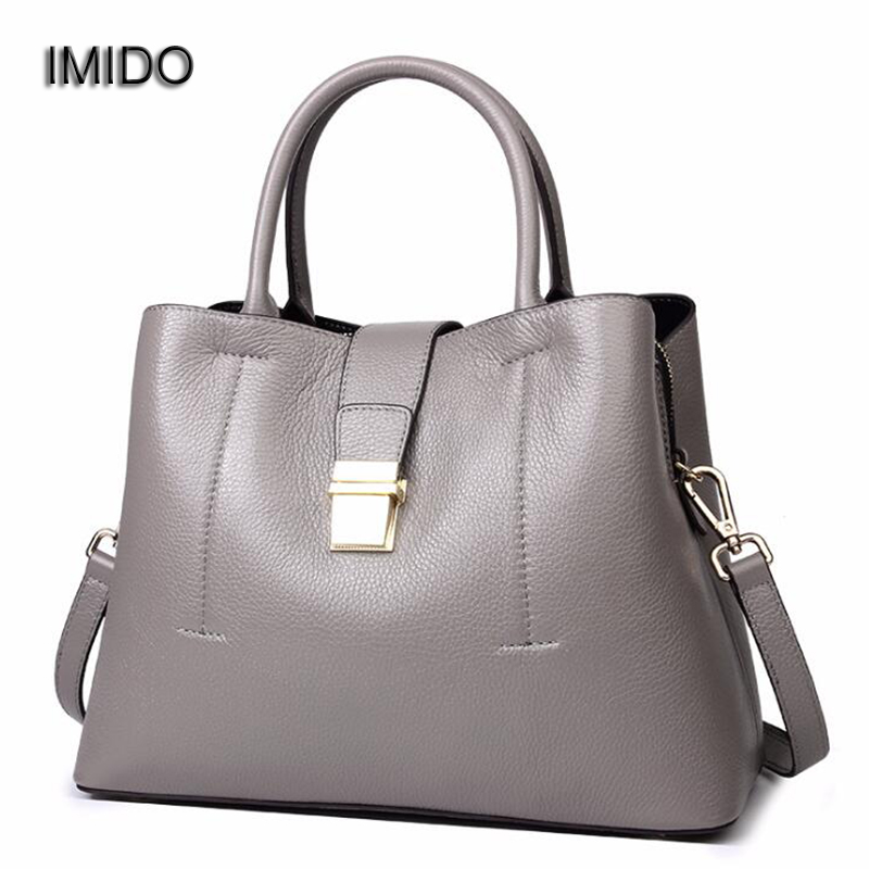 IMIDO Designer Handbags 2018 genuine leather bags for women Tote Bag Crossbody Bag Quality bolsa feminina de marca famosa HDG092