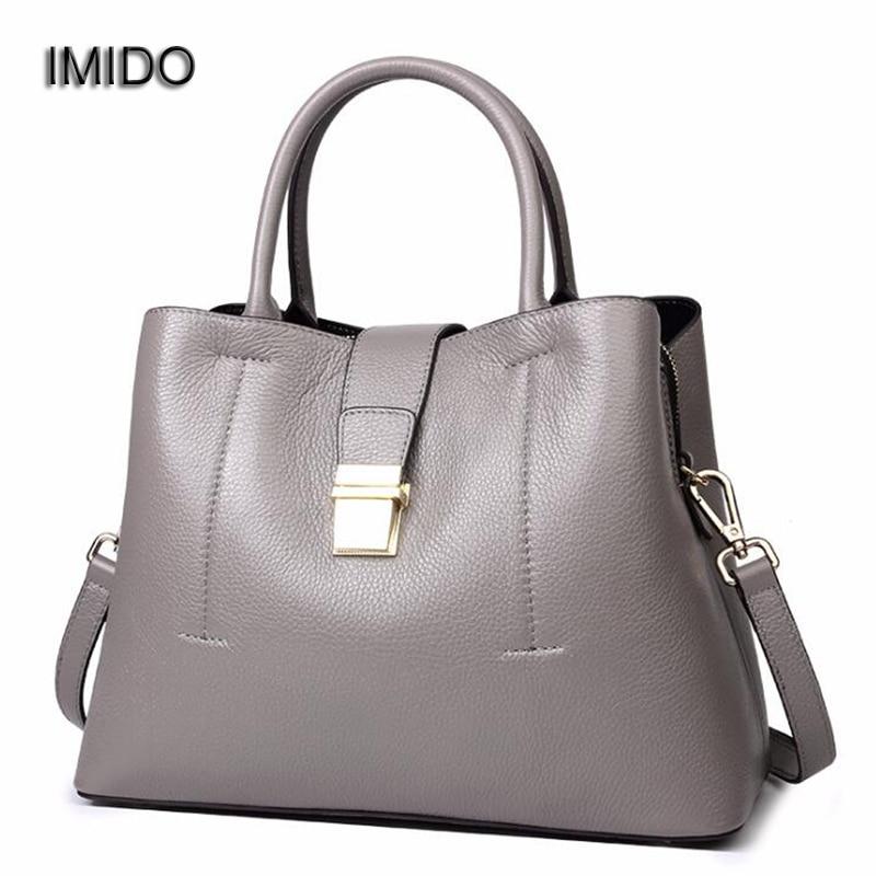 IMIDO Designer Handbags 2018 genuine leather bags for women Tote Bag Crossbody Bag Quality bolsa feminina de marca famosa HDG092 imido 2017 luxury brand designer women handbags leather shoulder bag retro tote daily bags for ladies gray bolsa feminina hdg008