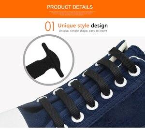 Image 2 - SENTCHARM 16pcs/bag Adults No Tie Lazy Laces Silicone Shoelaces for Sport Shoes Elastic Shoe Lace For Off Shoes