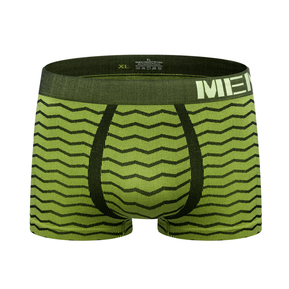 Sexy Men Underwear Boxer Shorts Man Basic Lingerie Panties Seamless Men's Underwear Boxers Wave Stripe Mens Underpants M0042