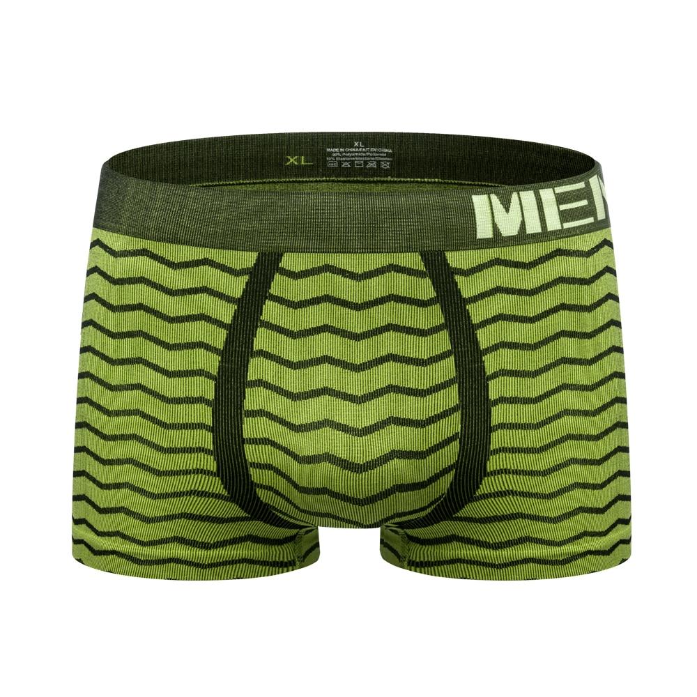 Sexy Men Underwear Boxer Shorts Man Basic Lingerie Panties Seamless Men's Underwear Boxers Wave Stripe Mens Underpants M0042