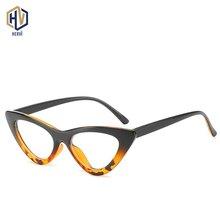 2020 Cat Eye Optics Glasses Frame Women PC Two Tone Leopard Spectacles Frames Triangle Prescription Eyeglasses