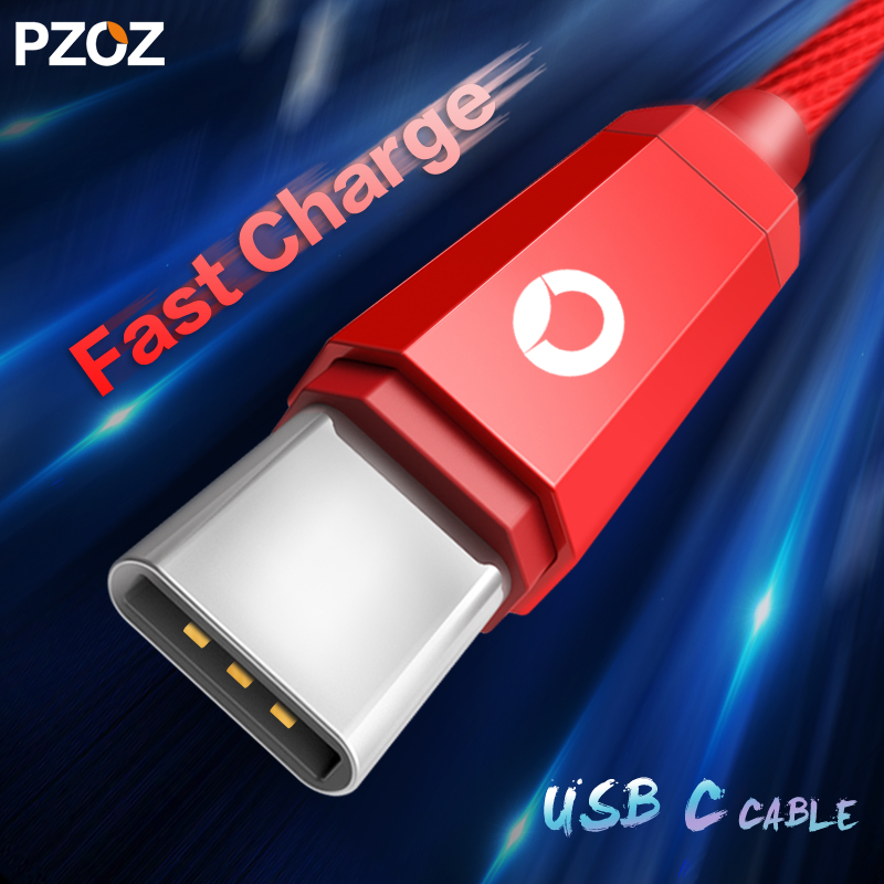 pzoz usb cable type-c fast charging wire 3.1 type c cable uss