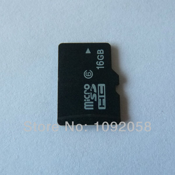 1PCS Free shipping real capacity 16GB class 6 Micro SD card with SD adapter