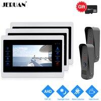 JERUAN 1 0MP 720P Motion Detection 7 LCD Video Door Phone Intercom System 3 Record Monitor