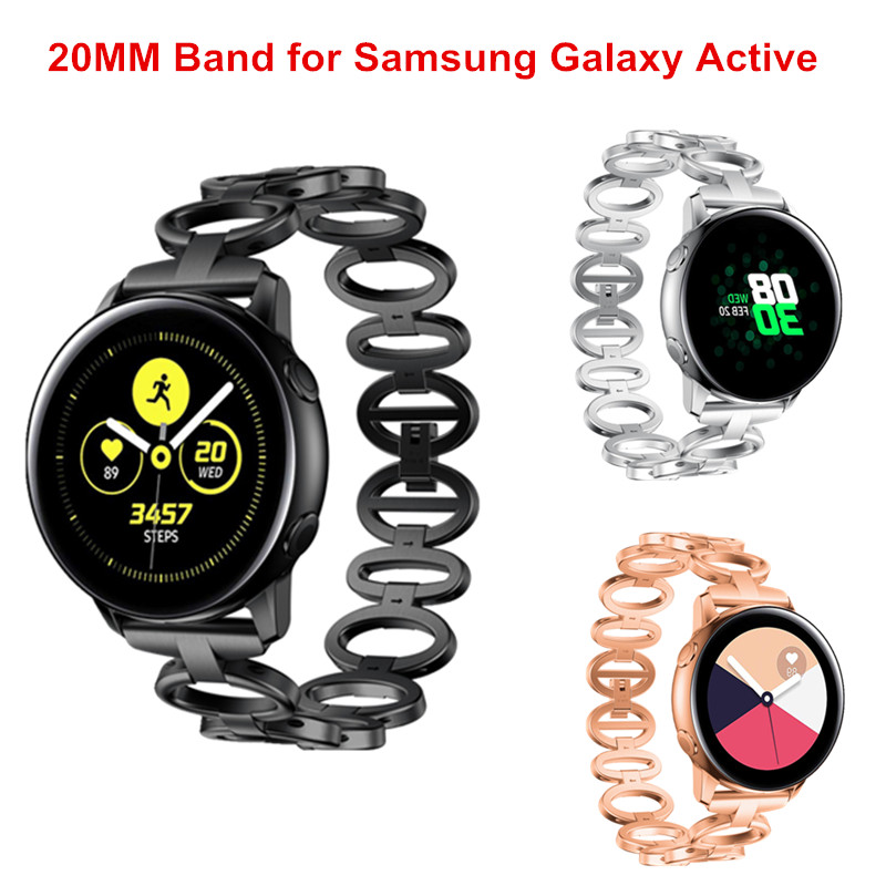 For Samsung Galaxy Watch Active Quick Release Stainless Steel Metal Watch Band Strap for Galaxy Watch Active Wristband BraceletFor Samsung Galaxy Watch Active Quick Release Stainless Steel Metal Watch Band Strap for Galaxy Watch Active Wristband Bracelet