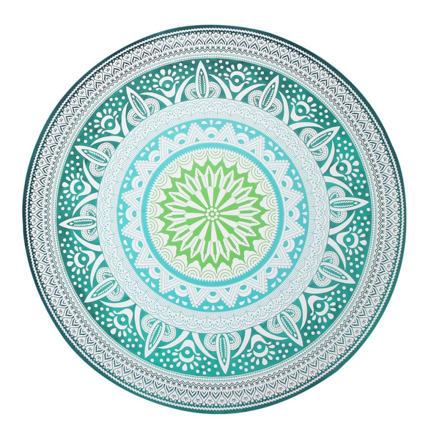 Diameter 150cm Round Beach Pool Home Shower Chiffon Towel Blanket Table Cloth Yoga Green Mat Dec 12