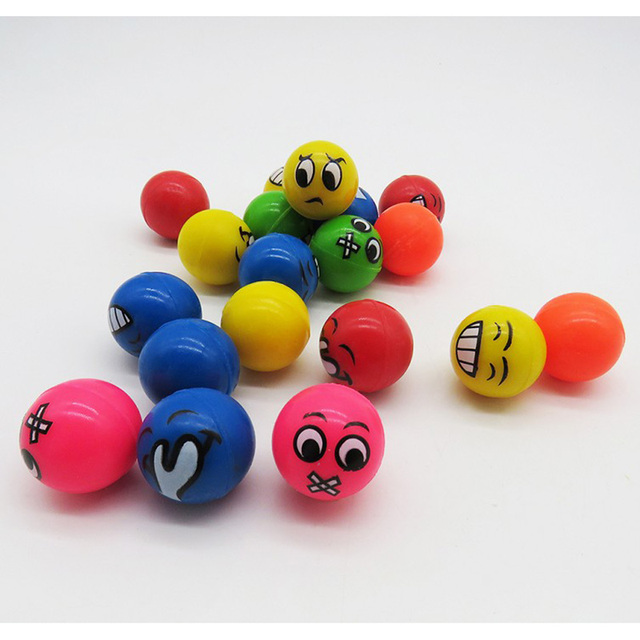 a9ea0577252c 100pcs Children Toy Ball Colored Bouncing Ball Rubber Outdoor Toys ...