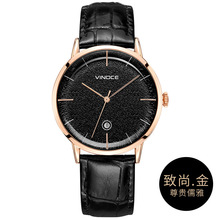 Vinoce Watch Men Fashion Sport Quartz Clock Leather Mens Watches Brand Luxury Gold Waterproof Business Watch Relogio Masculino dom watch men fashion sport quartz clock mens watches brand luxury fashion leather business waterproof watch relogio masculino