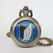 Handmade Attack on Titan 12pcs/lot Inspired vintage pocket watches
