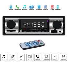 Adeeing Radio samochodowe Bluetooth Vintage bezprzewodowy odtwarzacz multimedialny MP3 AUX USB FM 12V klasyczny stereofoniczny odtwarzacz Audio samochód elektryczny