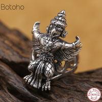 Men Ring 100% Real 925 sterling silver Ethnic Buddha God Beast animal engagement ring Brand jewelry dropshipping free delivery