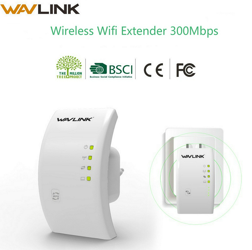Wavlink Repetidor Extensor Sem Fio Wi-fi 300 Mbps 802.11b/g/n 2.4g Rede WPS wifi Sinal Antena Longa gama Repetidor do Impulsionador