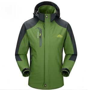 Image 3 - Mountainskin 5XL 男性のジャケット防水春フード付きコート男性女性アウターアーミー固体カジュアルブランド男性服、 SA153