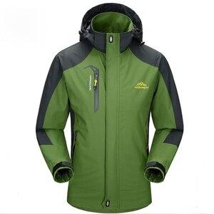 Image 3 - Mountainskin 5XL erkek ceketleri su geçirmez bahar kapşonlu palto erkekler kadın giyim ordu katı Casual marka erkek giyim, SA153