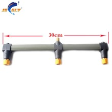 Free shipping 30cm OR 50cm Carp Fishing Buzz Bar rod rest Fishing Rod Holder for 3 bite alarms