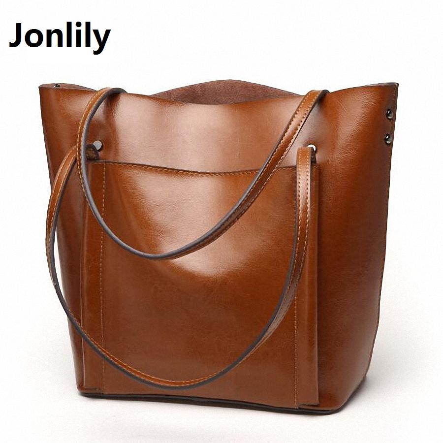 Jonlily Designer Women Handbag Female genuine Leather Handbags Ladies Portable Shoulder Bag Office Ladies Tote bags -SLI-154